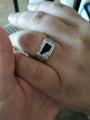 Кольцо с фианитами и ониксом