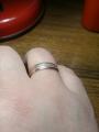 Обручальное супер красивое кольцо по доступной цене с белым золотом