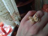 Кольцо - бабочка с фианитами