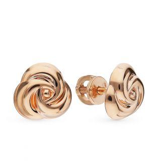 Золотые серьги EFREMOV С1005341*: розовое золото 585 пробы — купить в интернет-магазине SUNLIGHT, фото, артикул 87483