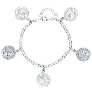 Серебряный браслет SILVEX: белое серебро 925 пробы — купить в интернет-магазине SUNLIGHT, фото, артикул 91959