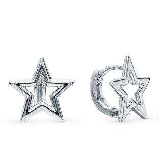 Серебряные серьги: белое серебро 925 пробы — купить в интернет-магазине SUNLIGHT, фото, артикул 109572