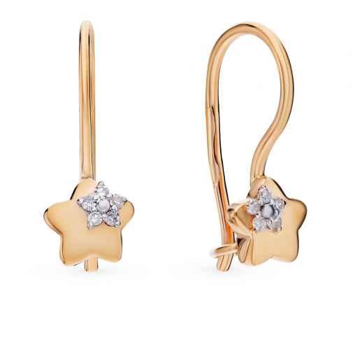 Серьги с 10 бриллиантами, 0.05 карат  Розовое золото 585 пробы. −52%  SUNLIGHT 6044839db1f