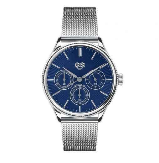 Механические серебряные мужские часы