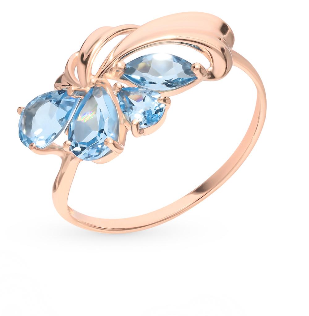 Фото «Золотое кольцо с топазами SOKOLOV 714630*»