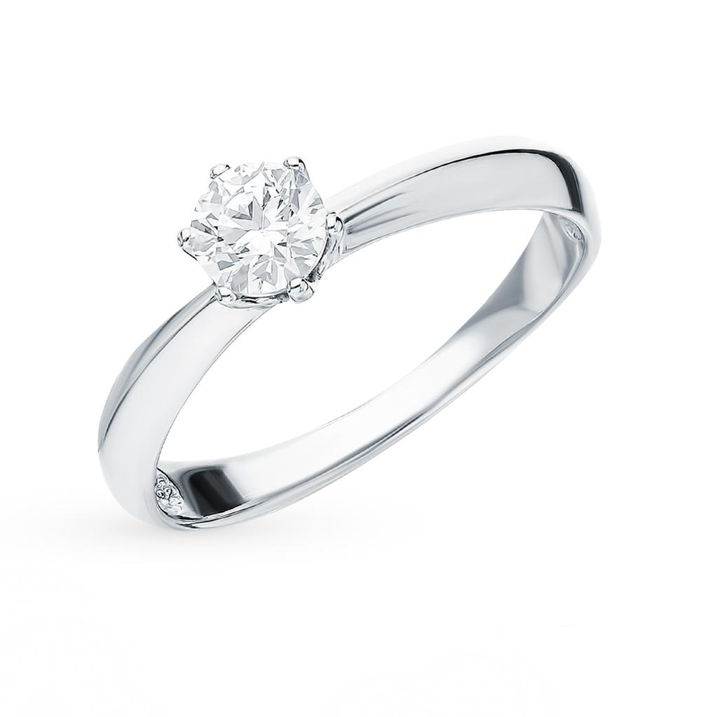 золотое кольцо с фианитами SOKOLOV 81010226*