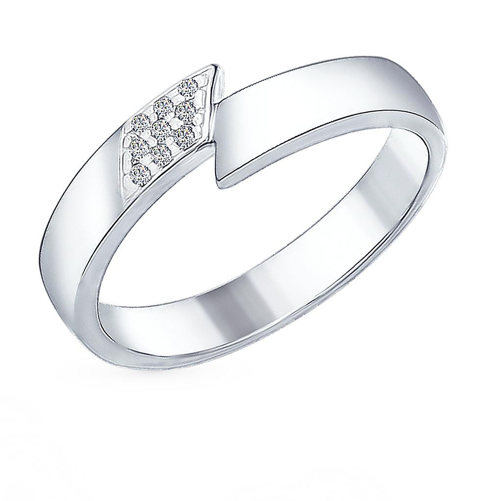 серебряное кольцо с фианитами SOKOLOV 94011971