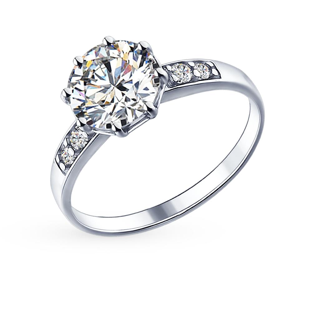 Фото «Серебряное кольцо с фианитами SOKOLOV 89010014»