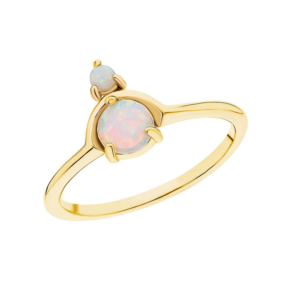 Фото «Серебряное кольцо с опалами»