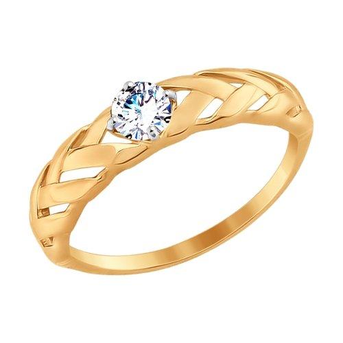Фото «Золотое кольцо с фианитами SOKOLOV 017549*»