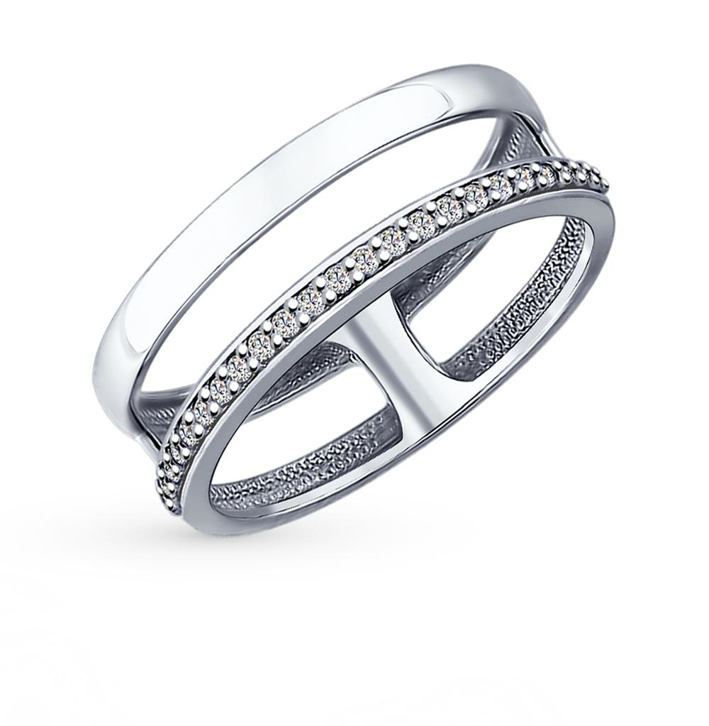 серебряное кольцо с фианитами SOKOLOV 94012151