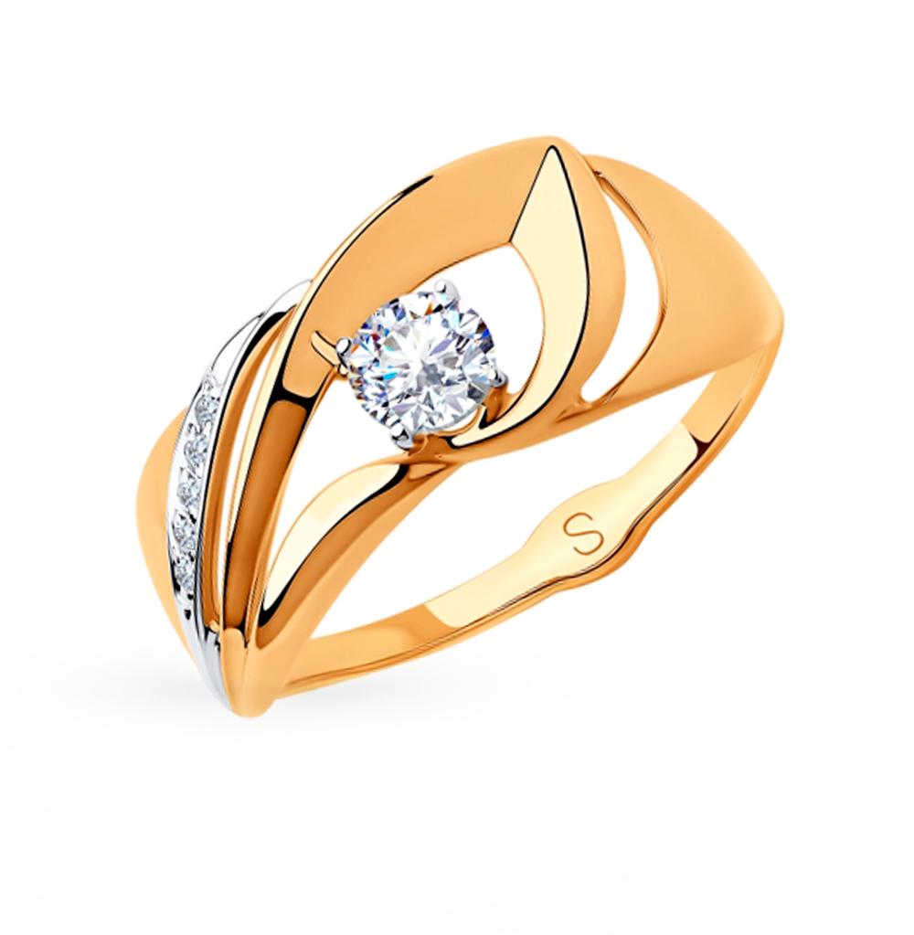 Золотое кольцо с фианитами SOKOLOV 018172 в Екатеринбурге