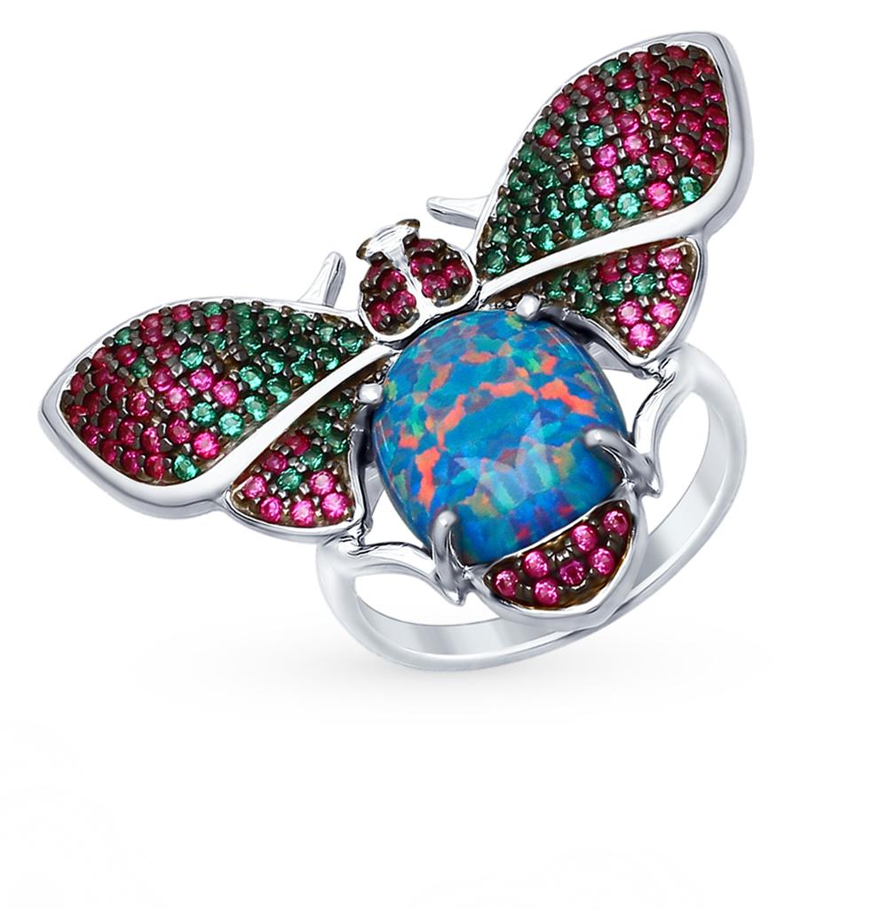 серебряное кольцо с опалами SOKOLOV 83010047