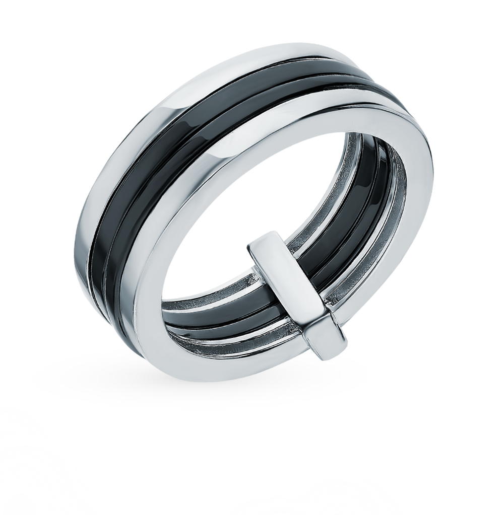 Серебряное кольцо с керамикой в Санкт-Петербурге