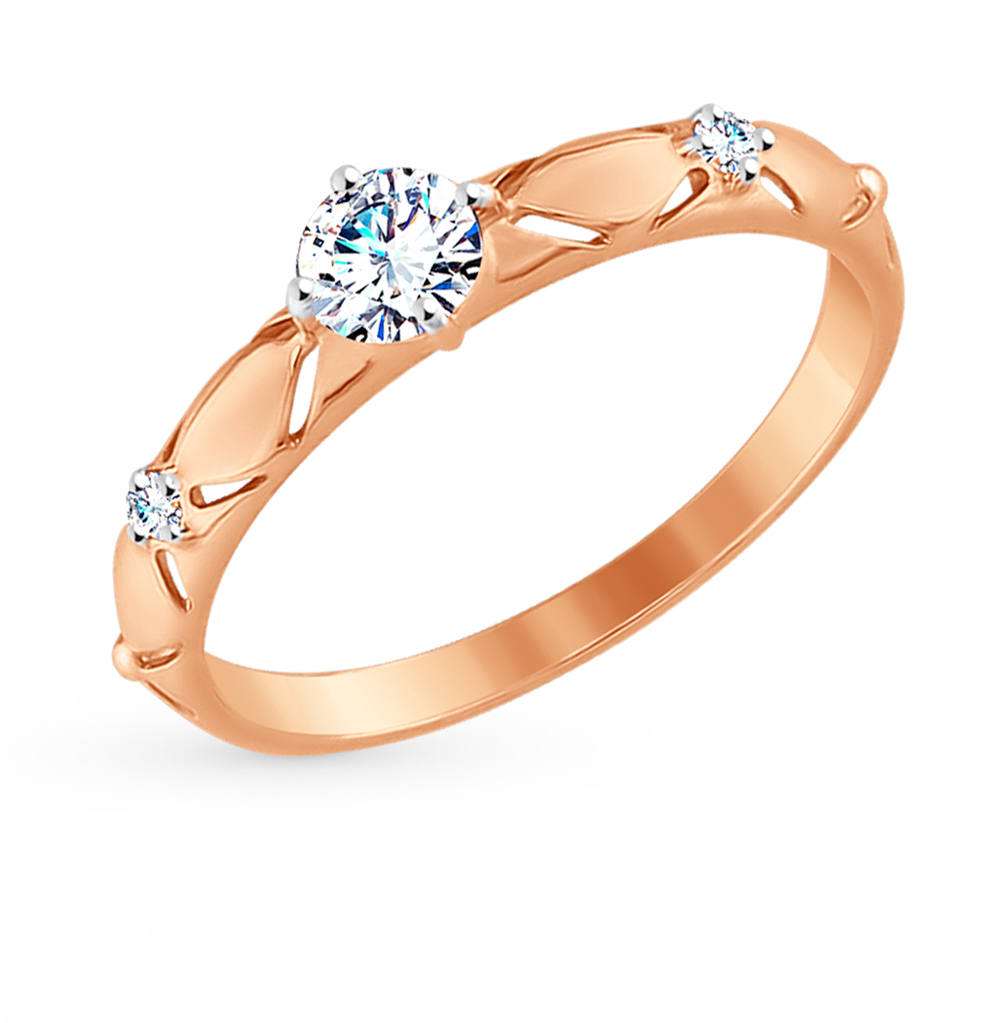 Золотое кольцо с фианитами SOKOLOV 017538* в Екатеринбурге