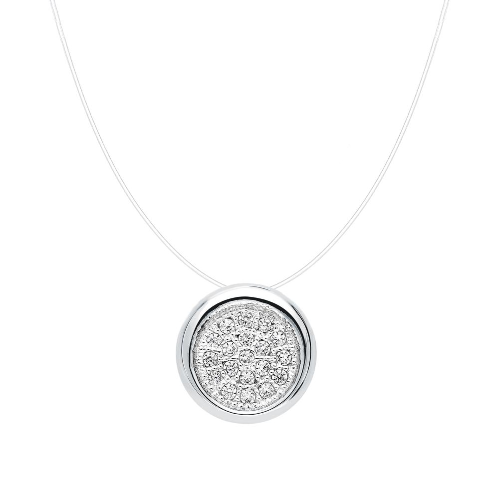 Серебряное колье MILANTI 90380п: белое серебро 925 пробы — купить в интернет-магазине SUNLIGHT, фото, артикул 275001