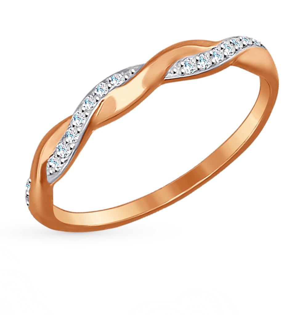 золотое кольцо с фианитами SOKOLOV 017186*
