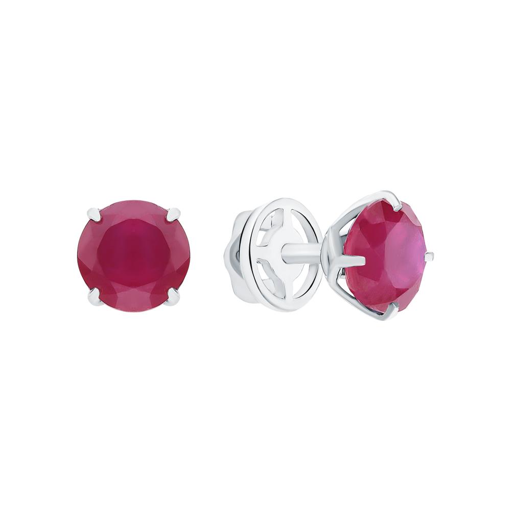 Фото «Серебряные серьги с рубинами»
