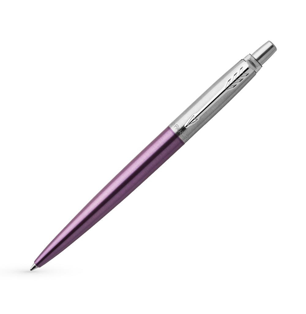 Шариковая ручка Parker Jotter Essential, Victoria Violet CT, стержень: Mblue, 1953190