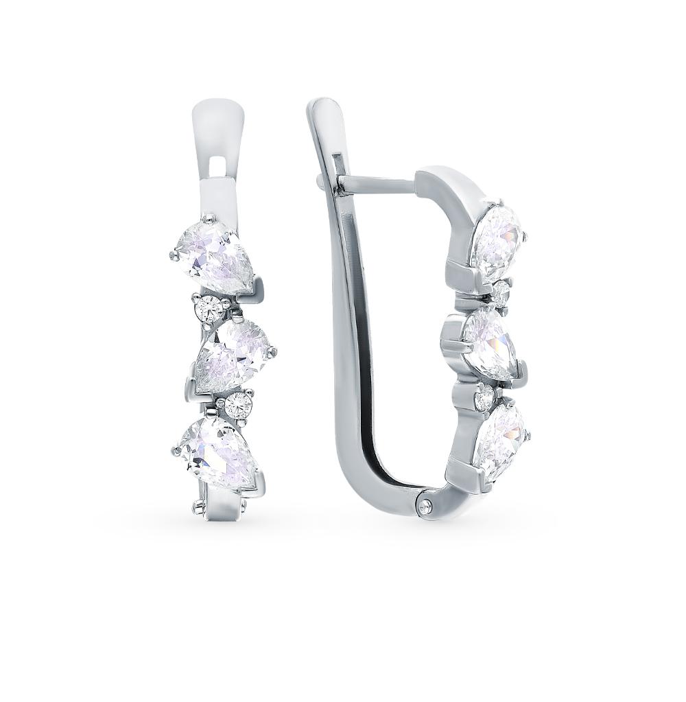 Фото «Серебряные серьги с фианитами»