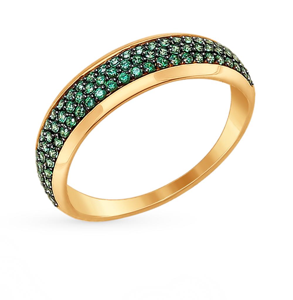 Фото «Золотое кольцо с фианитами SOKOLOV 017377*»