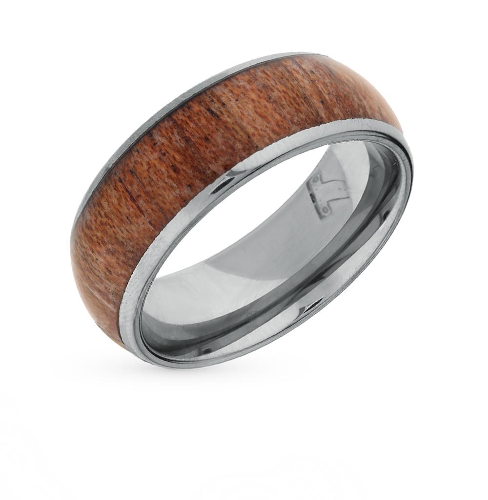 Фото «Кольцо из вольфрама с деровом»