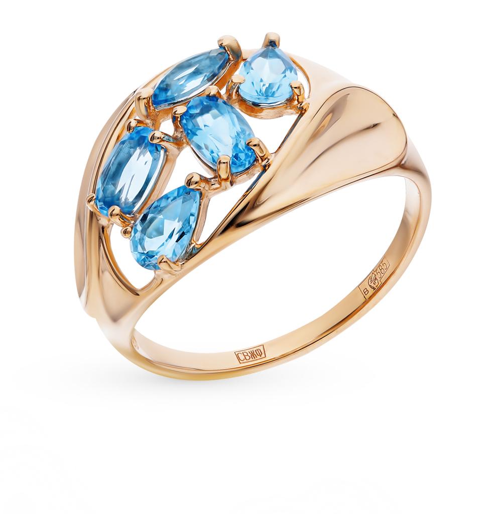 Золотое кольцо с топазами SOKOLOV 714469* в Екатеринбурге