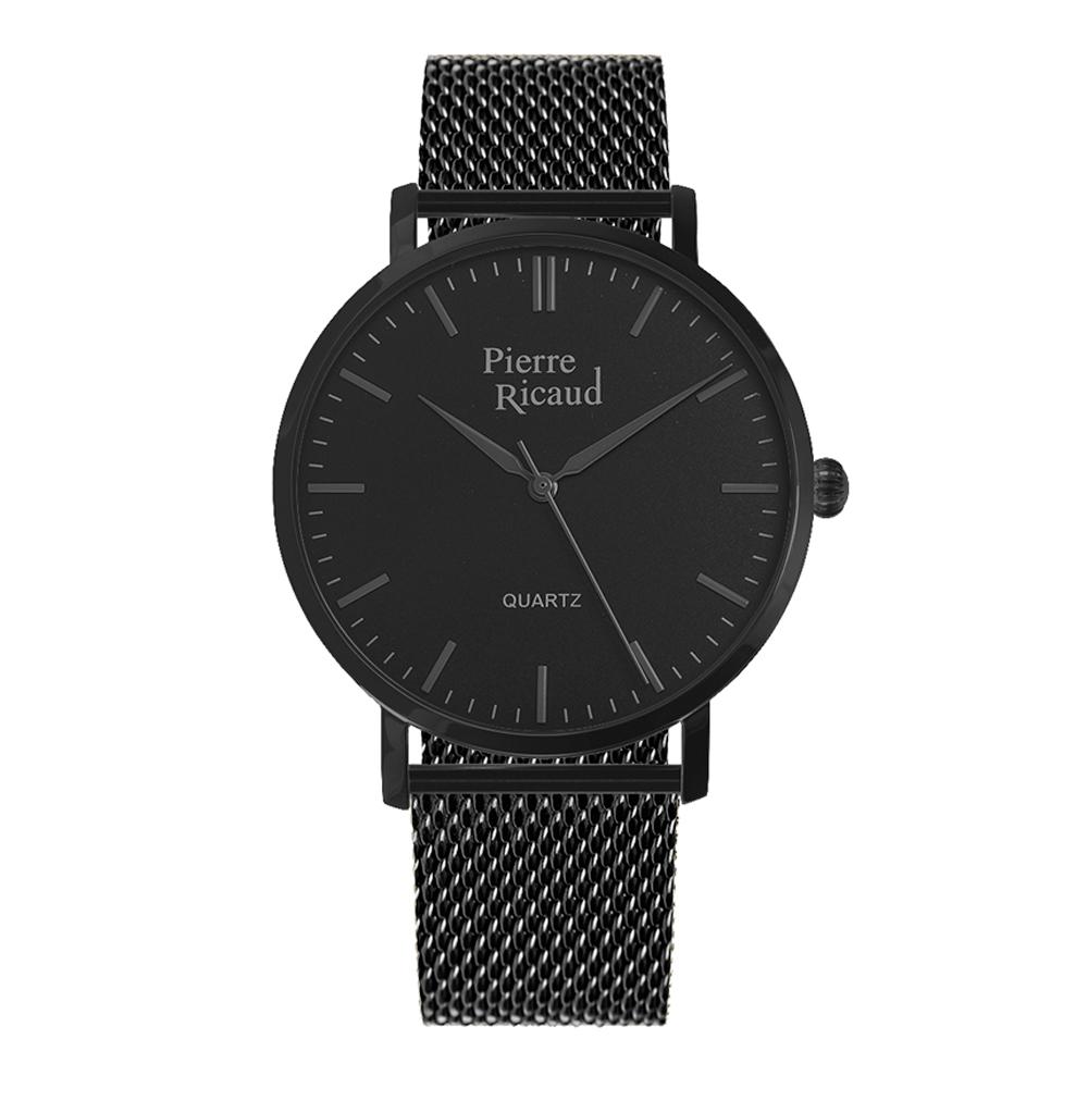 Мужские часы P91082.B114Q на стальном браслете с PVD покрытием с минеральным стеклом