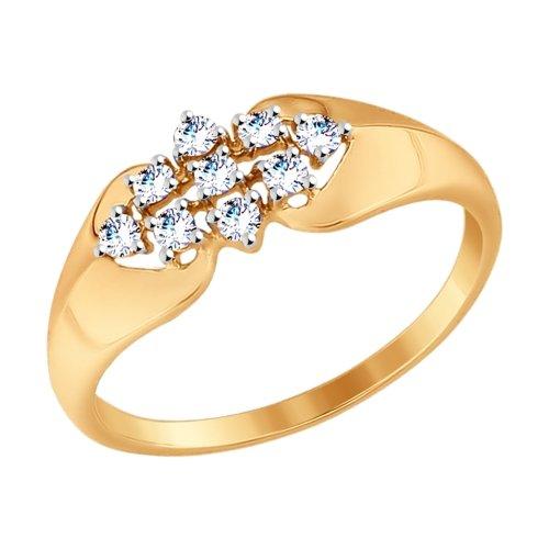 Золотое кольцо с фианитами SOKOLOV 017499* в Санкт-Петербурге