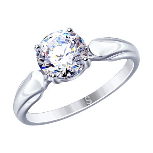 Фото «Серебряное кольцо с фианитами SOKOLOV 89010113»
