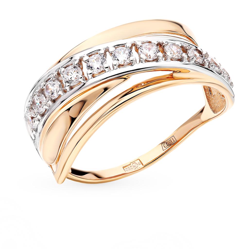 золотое кольцо с фианитами SOKOLOV 017563*