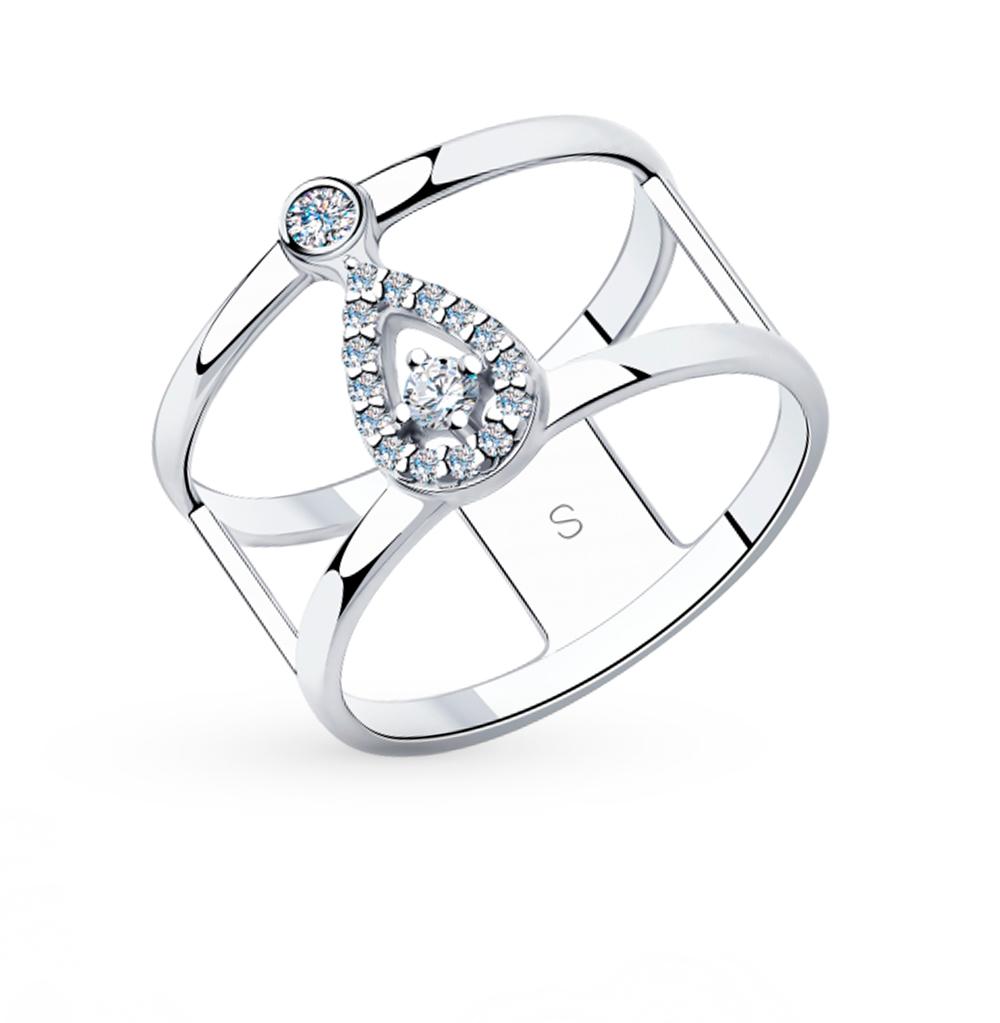 Фото «Серебряное кольцо с фианитами SOKOLOV 94013051»