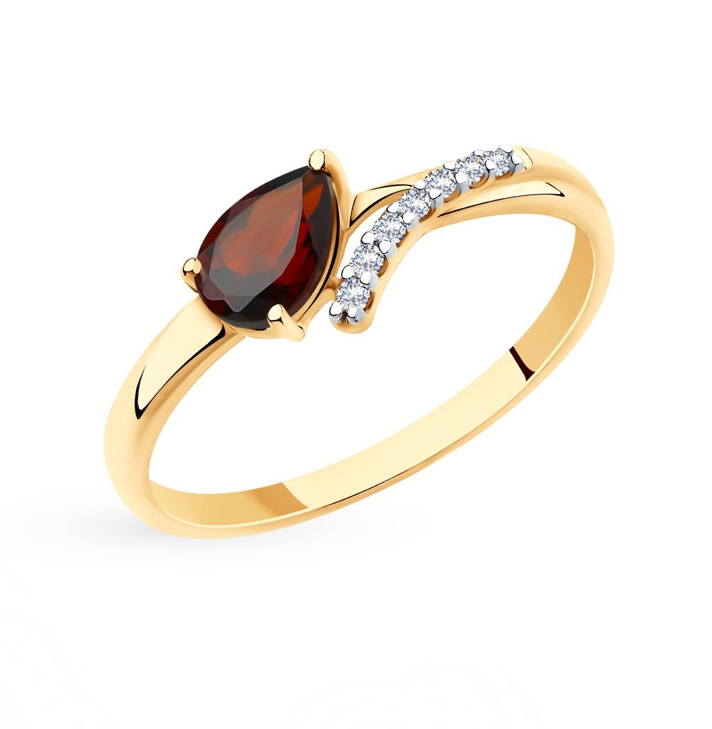 Золотое кольцо с гранатом SOKOLOV 715696* в Екатеринбурге