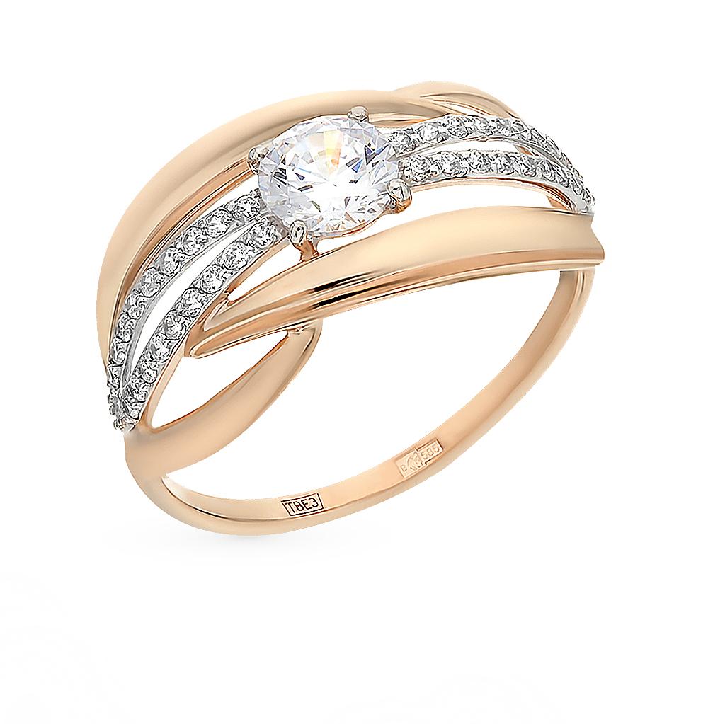 Фото «Золотое кольцо с фианитами SOKOLOV 017425*»