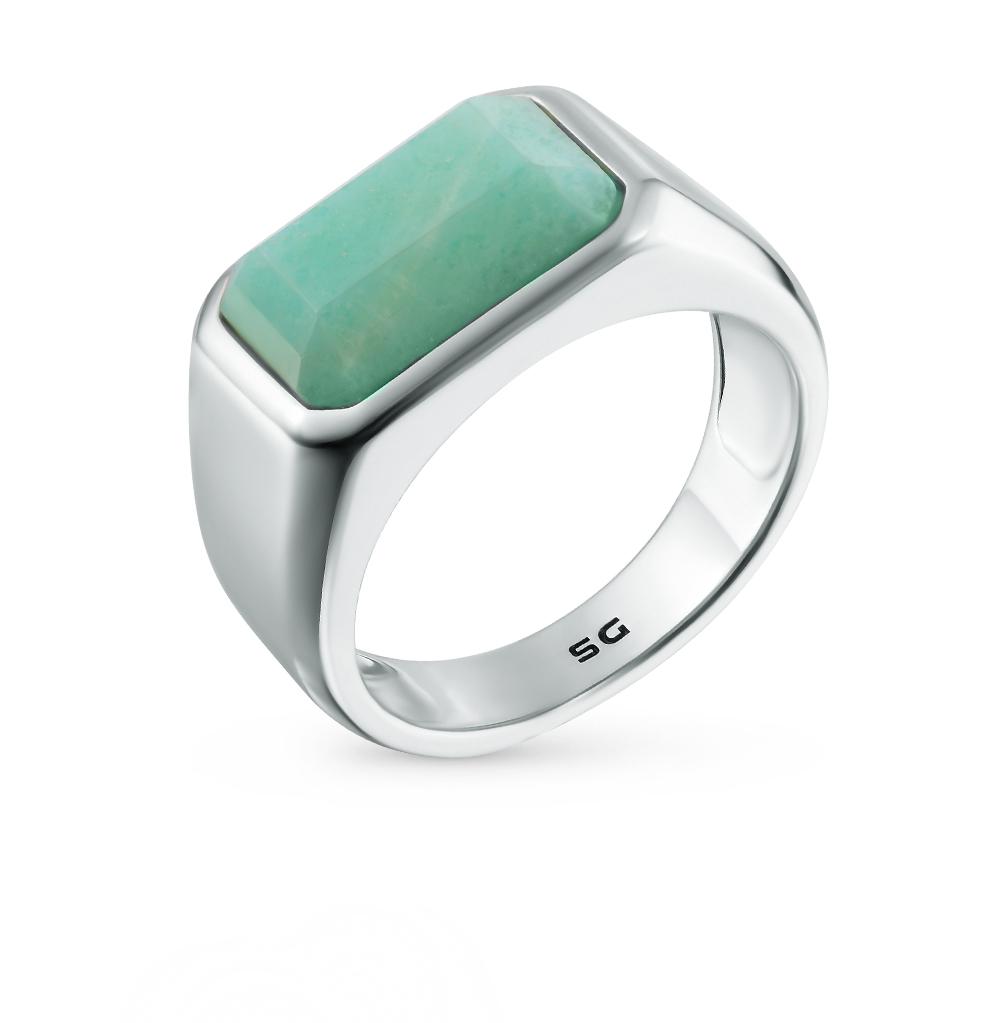 кольцо из серебра с изумрудами