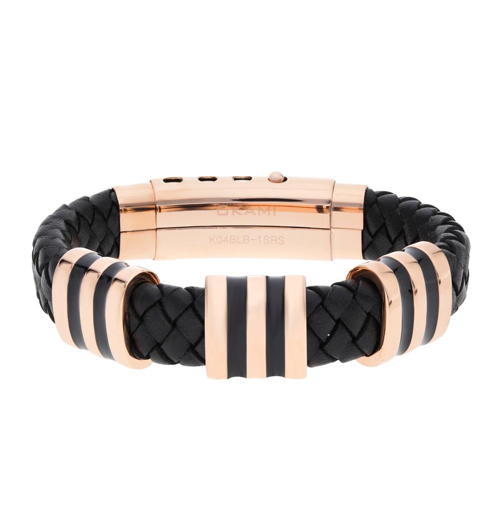 Кожаный браслет Okami