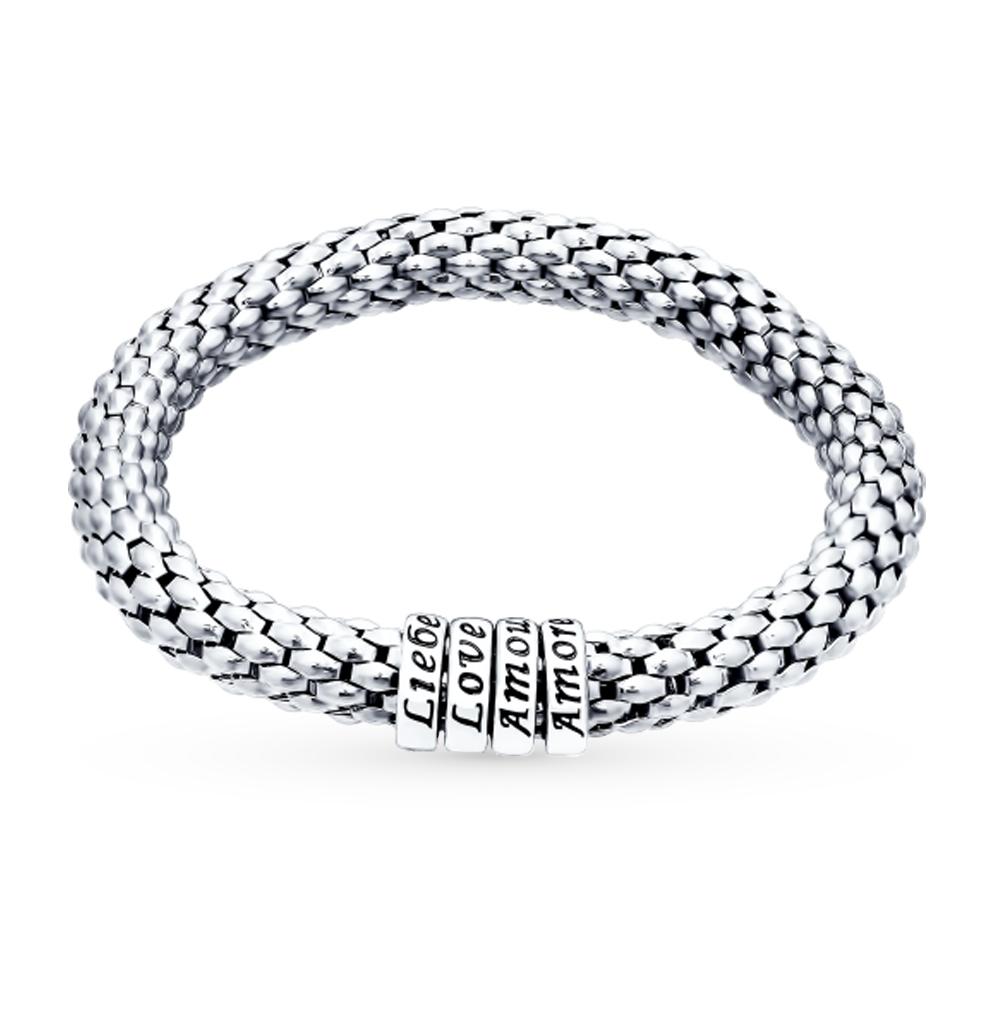 серебряный браслет с эмалью SOKOLOV 94050145