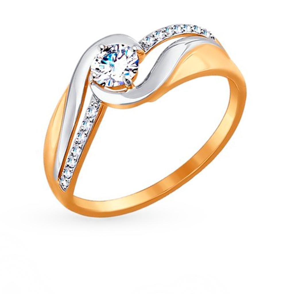 Фото «Золотое кольцо с фианитами SOKOLOV 017415»