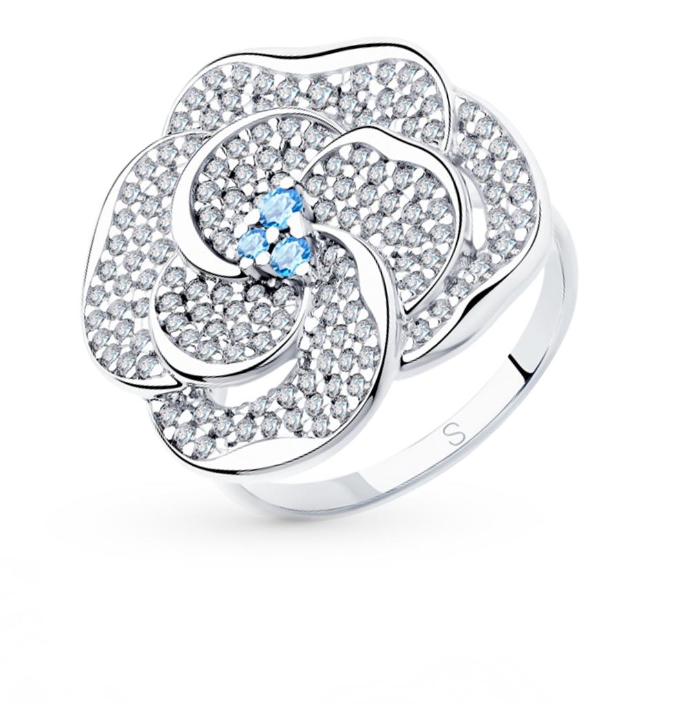 Серебряное кольцо с фианитами SOKOLOV 94012997 в Екатеринбурге