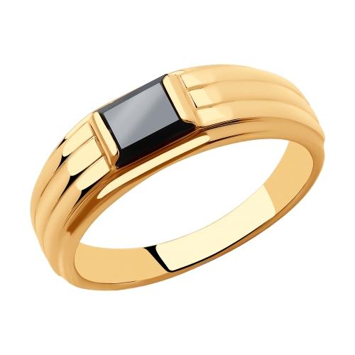 Фото «Золотое кольцо с ониксом SOKOLOV 018483»