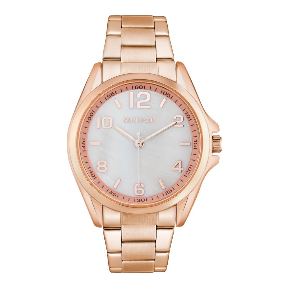 Фото «Женские часы с перламутром на металлическом ремне»