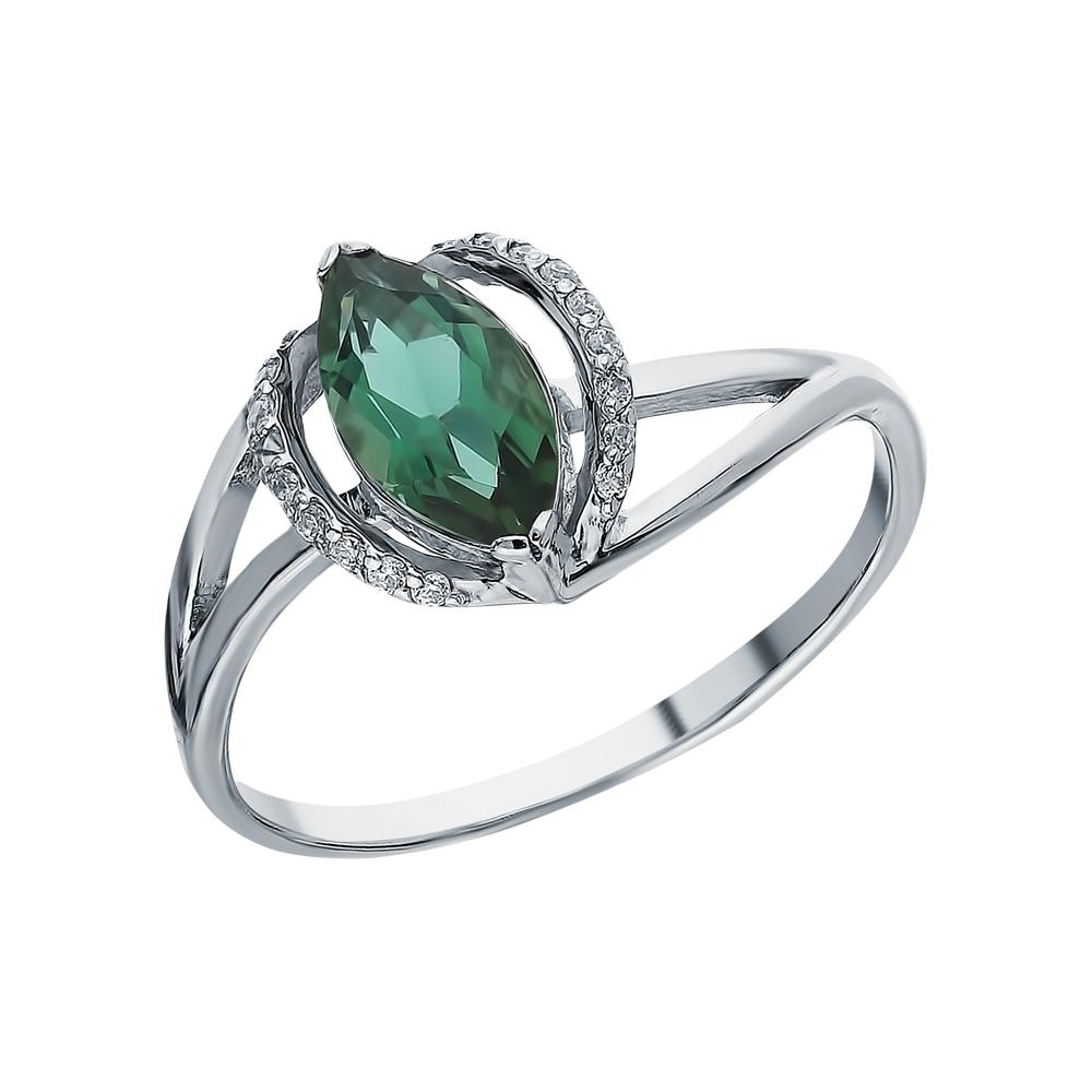 Серебряное кольцо с турмалинами имитациями в Екатеринбурге