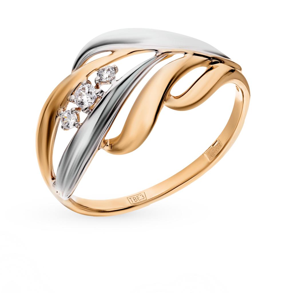 золотое кольцо с фианитами SOKOLOV 017459*