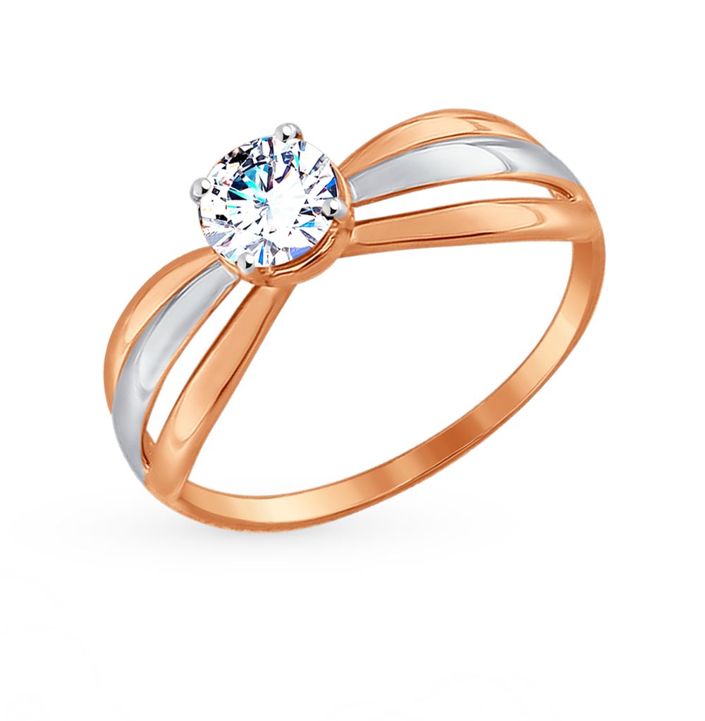 Золотое кольцо с фианитами SOKOLOV 017462* в Екатеринбурге