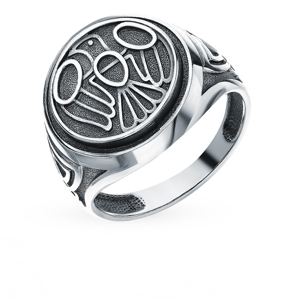 Фото «Серебряный оберег-кольцо «Жаворонок»»