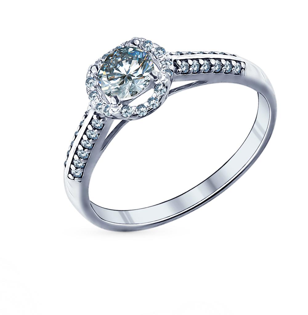 серебряное кольцо с фианитами SOKOLOV 94011504