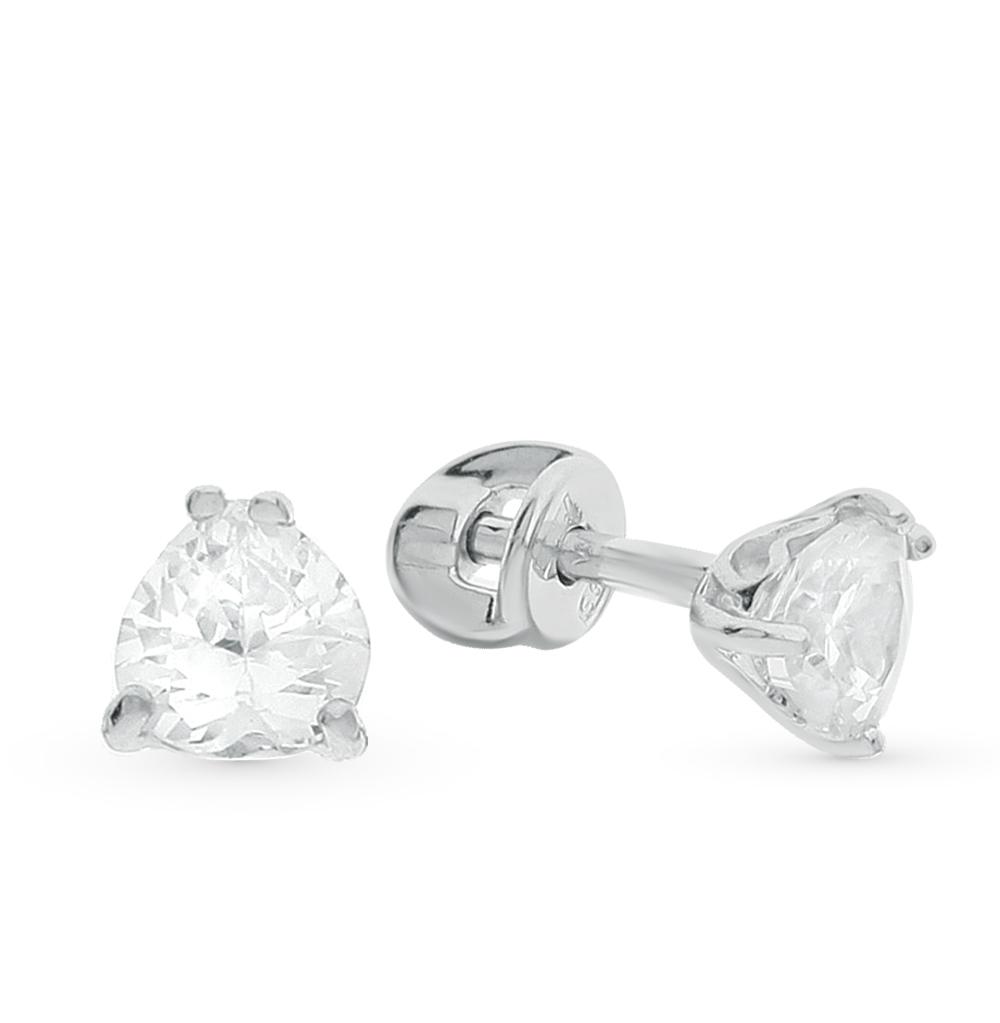 серебряные серьги с фианитами SOKOLOV 94021971
