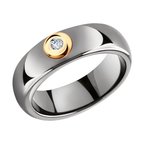 Фото «Керамическое кольцо с бриллиантами SOKOLOV 6015077»