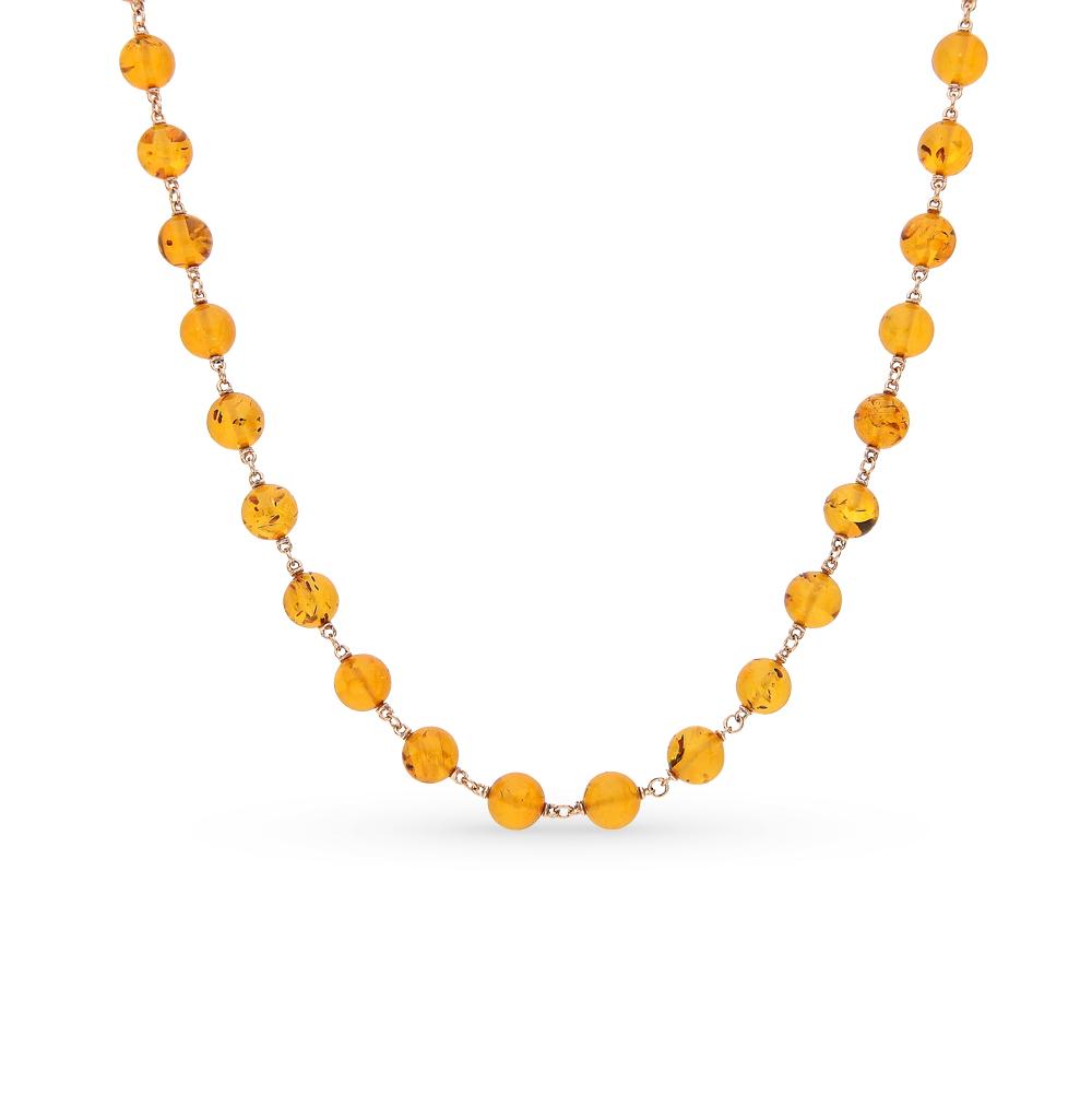 Фото «золотое колье с янтарем»
