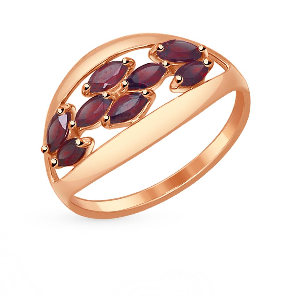 Фото «Золотое кольцо с гранатом SOKOLOV 714544*»